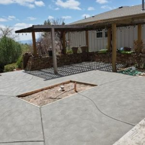 Patio - Gray with California Swirl Finish