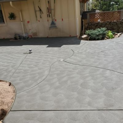 Patio - Gray with California Swirl Finish 2
