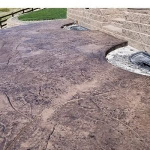 Patio - Stamped and Colored with Flagstone Cut Finish