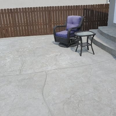 Patio - Stamped With Flagstone Cut Finish