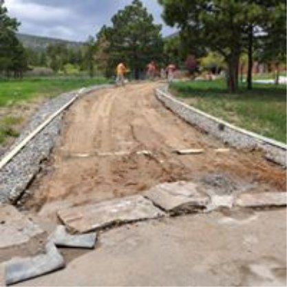 driveway during construction