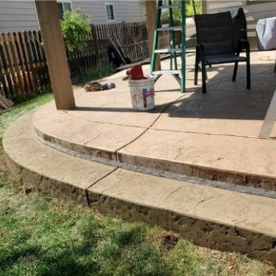 curved steps stamped and colored 1
